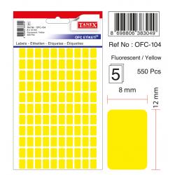 Tanex Ofc-104 Flo Sarı Ofis Etiketi