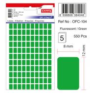 Tanex Ofc-104 Flo Yeşil Ofis Etiketi