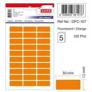 Tanex Ofc-107 Flo Turuncu Ofis Etiketi