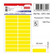 Tanex Ofc-109 Flo Sarı Ofis Etiketi