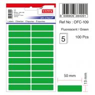 Tanex Ofc-109 Flo Yeşil Ofis Etiketi