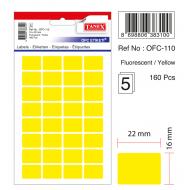 Tanex Ofc-110 Flo Sarı Ofis Etiketi
