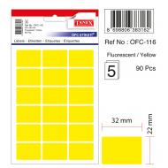 Tanex Ofc-116 Flo Sarı Ofis Etiketi