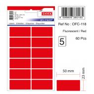 Tanex Ofc-118 Flo Kırmızı Ofis Etiketi