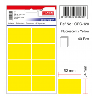 Tanex Ofc-120 Flo Sarı Ofis Etiketi