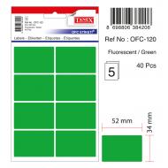 Tanex Ofc-120 Flo Yeşil Ofis Etiketi