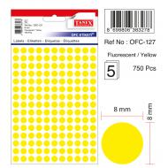 Tanex Ofc-127 Flo Sarı Ofis Etiketi