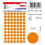 Tanex Ofc-129 Flo Turuncu Ofis Etiketi