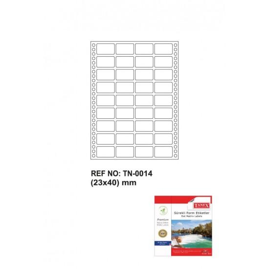 Tanex Tn-0014 Sürekli Form Etiketi 23x40mm