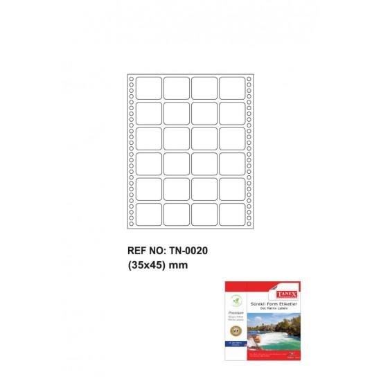 Tanex Tn-0020 Sürekli Form Etiketi 35x45mm