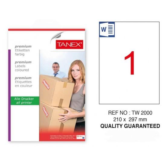 Tanex Tw-2000 Sevkiyat ve Lojistik Etiketi 210x297 mm