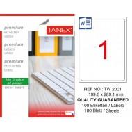 Tanex TW-2001 199.6x289.1mm Laser Etiket 100 Lü