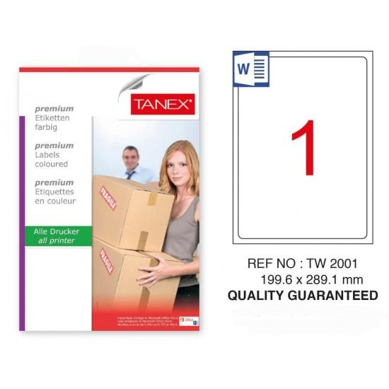 Tanex Tw-2001 Sevkiyat ve Lojistik Etiketi 199.6x289.1 mm