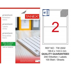 Tanex TW-2002 199,6x143,5 mm Laser Etiket