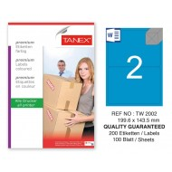 Tanex TW-2002 199,6x143,5mm Mavi Pastel Laser Etiket 100 Lü