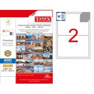 Tanex TW-2002 199.6x143.5mm Polyester Etiket 25 Li