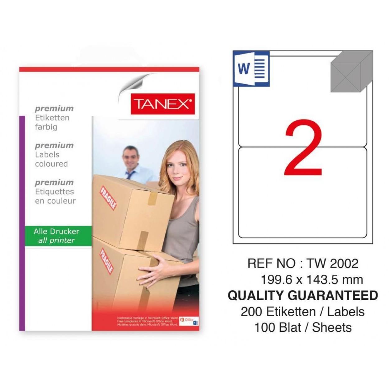 Tanex Tw-2002 Sevkiyat ve Lojistik Etiketi 199.6x143.5 mm