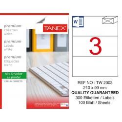 Tanex TW-2003 210x99 mm Laser Etiket