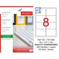 Tanex TW-2008 99,1x67,7 mm Laser Etiket