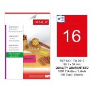 Tanex TW-2016 99,1x34 mm Kırmızı Floresan Laser Etiket 100 Lü