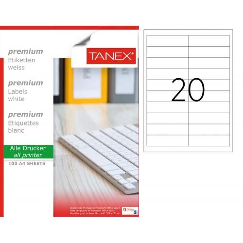 Tanex  TW-2020 Laser Etiket 26 x 95 mm