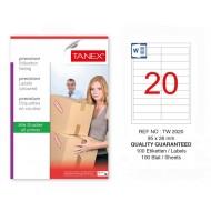 Tanex Tw-2020 Sevkiyat ve Lojistik Etiketi 95x26 mm
