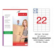 Tanex Tw-2022 Sevkiyat ve Lojistik Etiketi 50x22 mm