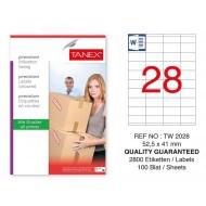 Tanex Tw-2028 Sevkiyat ve Lojistik Etiketi 52,5x41 mm