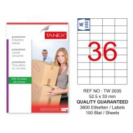 Tanex Tw-2035 Sevkiyat ve Lojistik Etiketi 52,5x33 mm