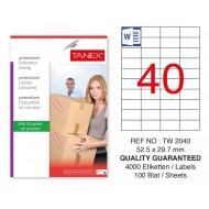 Tanex Tw-2040 Sevkiyat ve Lojistik Etiketi 52,5x29,7 mm