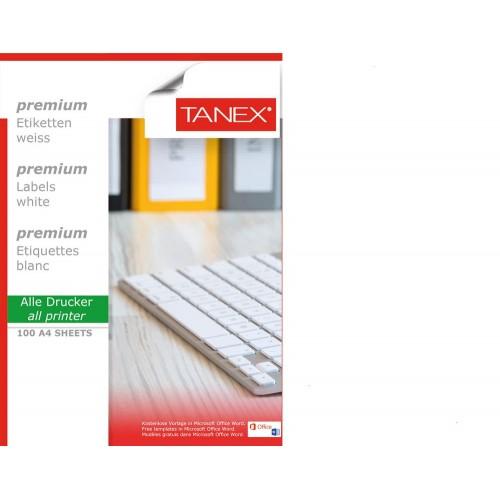 Tanex TW-2050 70x50.8mm Laser Etiket 100 Lü Paket