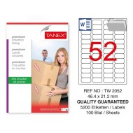 Tanex Tw-2052 Sevkiyat ve Lojistik Etiketi 46,4x21,2 mm