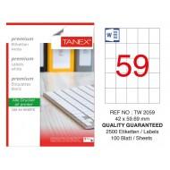 Tanex TW-2059 Laser Etiket 100 Lü Paket
