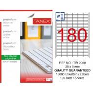 Tanex TW-2060 Laser Etiket 30 x 9 mm