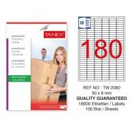 Tanex Tw-2060 Sevkiyat ve Lojistik Etiketi 30x9 mm