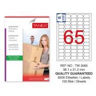 Tanex Tw-2065 Sevkiyat ve Lojistik Etiketi 38,1x21,2 mm