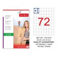 Tanex Tw-2072 Sevkiyat ve Lojistik Etiketi 26,25x33 mm