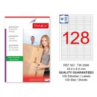 Tanex Tw-2096 Sevkiyat ve Lojistik Etiketi 43,2x8,5 mm