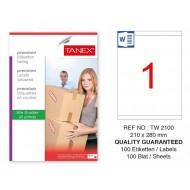 Tanex Tw-2100 Sevkiyat ve Lojistik Etiketi 210x280 mm
