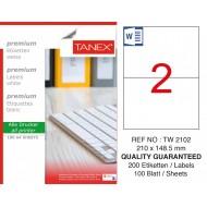Tanex TW-2102 Laser Etiket 210 x 148,5 mm