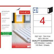 Tanex TW-2104 Laser Etiket 100 Lü Paket