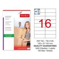 Tanex Tw-2105 Sevkiyat ve Lojistik Etiketi 105x37,125 mm