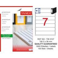 Tanex TW-2107 Laser Etiket 100 Lü Paket