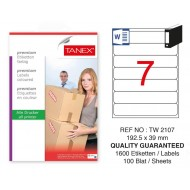 Tanex Tw-2107 Sevkiyat ve Lojistik Etiketi 192,5x39 mm