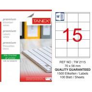 Tanex Tw-2115 Laser Etiket 70 x 56 mm