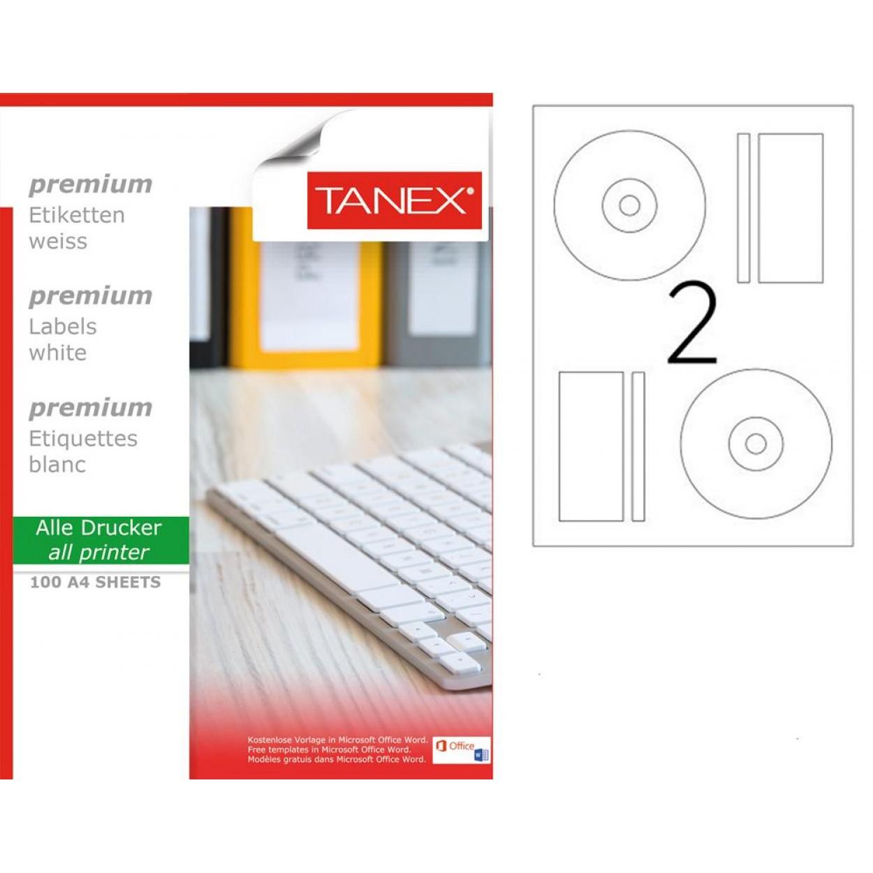 Tanex TW- 2117  Laser Etiket 100 Lü Paket