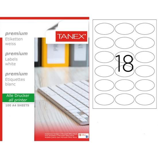 Tanex TW- 2118  Laser Etiket 100 Lü Paket
