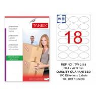 Tanex Tw-2118 Sevkiyat ve Lojistik Etiketi 54,4x42,3 mm