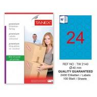 Tanex TW-2140 40mm Mavi Pastel Laser Etiket 100 Lü