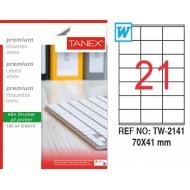 Tanex TW-2141 Laser Etiket 70 x 41 mm